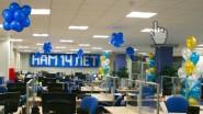 Украшение шарами ко Дню рождения компании