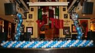 Оформление шарами клубной сцены