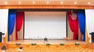 Оформление тканью кино-концертного зала ДК