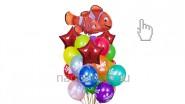 Букет из воздушных шаров «Нэмо», высота-1.7м: 2190р/шт