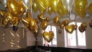 Гелиевые шары с сердечками на свадьбу