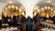 Украшение ресторана в центре Москвы