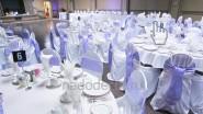Украшение зала к свадьбе в лавандовых тонах