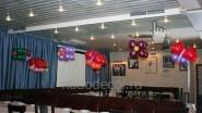 Оформление зала шарами к Женскому дню