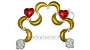 Арка из полумесяцев с сердцами: 5790р. Ширина -2,2 м.