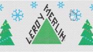 Новогоднее панно из шаров для супермаркета Leroy Merlin