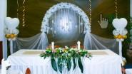 Оформление свадьбы шарами и цветами «Белиссимо»
