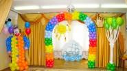 Украшение шарами праздника в детском саду