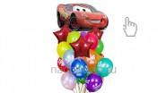 Букет из воздушных шаров «Тачки», высота-1.7м: 2490р/шт
